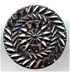 Ridged Design Black Glass Button