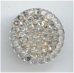 1 Piece Clear Molded Bubble Style Glass Button