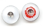 Set Of 2 Big White Glass Buttons
