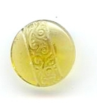 Vintage Molded Yellow Glass Button