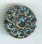 Vintage Blue Rhinestone Button