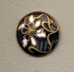 Art Noveau Black Enamel Button