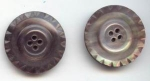 Set Of 2 Grey Carved Pearl Buttons