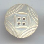 1 1/4 In. White Carved Mother Of Pearl Button
