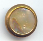 Nice Older Mother Of Pearl Button In Brass