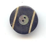 Black Wood, Inlaid Mother Of Pearl And Brass Button