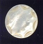 1700-1800 Carved Mother Of Pearl Button