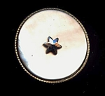Grey Mother Of Pearl Button With Star Cut Steel