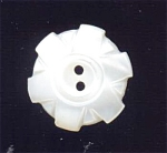 3/4 Inch Carved White Mother Of Pearl Button