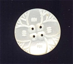 Lovely Lustrous Carved Mother Of Pearl Button