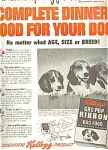 1950 Kellogg's Gro-pup Dog Food Ad Sheet