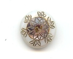 Carved 2 Color Mother Of Pearl Button