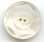 Large Carved Mother Of Pearl Button