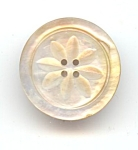 Four Hole Carved Mother Of Pearl Button
