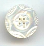 Lustrous Carved Mother Of Pearl Button