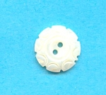 1/2 Inch Carved Mother Of Pearl Button