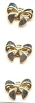 Mint On Card, 3 Realistic Bow Buttons