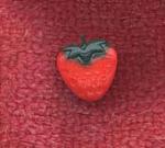 Tiny Realistic Strawberry Button