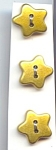 Set Of 9 Gold Plastic Star Buttons