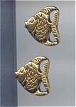 Set Of 2 Metal Tropical Fish Buttons