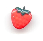 1 Piece Plastic Strawberry Button