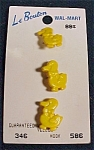 Mint 3 Plastic Yellow Duckling Buttons