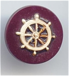 Old Celluloid Ship's Wheel Button