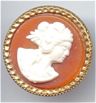 Large Faux Cameo Button