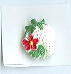 Vintage Realistic Strawberry Plastic Button