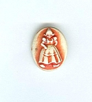 One Piece Realistic Plastic Dutch Girl Button