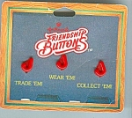 1980's Hallmark Friendship Buttons - Letter J