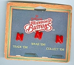 1980's Hallmark Friendship Buttons - Letter N