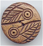 Large Carved Wood Button