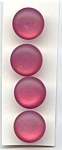 Fun Raspberry Plastic Moonglow Buttons