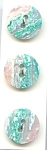 9 Mint On Card, Aqua/pink/white Plastic Buttons