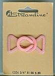 Vintage Pink Plastic Streamline Buckle