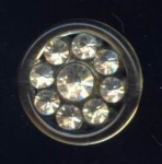 Rhinestone On Acrylic Button