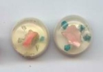 Set Of 2 Lucite Wedding Cake Look Buttons