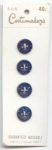 Cobalt Blue Moonglow Plastic Buttons On Card