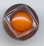 Butterscotch And Brown Art Deco Celluloid Button