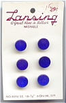 Set Of Blue Moonglow Plastic Buttons