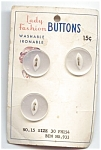 Lady Fashion Vintage White Moonglow Buttons
