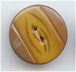 Big 2 Piece Brown Celluloid Button