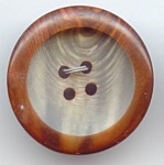 Marbled Grey And Brown Lucite Button