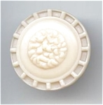 Creamy White Celluloid Button