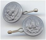 Set Of 2 Grey Plastic Military Buttons