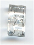 Rectangular Crystal Clear Molded Glass Button