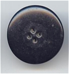 1 5/8th Inch Big Puffy Black Celluloid Button
