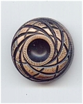 Big Handpainted Carved Lucite Button