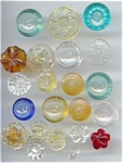 21 Vintage Molded & Colored Plastic Buttons